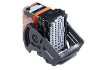 .635mm, 1.50mm, CMC Receptacle, 48 Circuits, Left Wire Output, Black Coding, Mat Sealed
